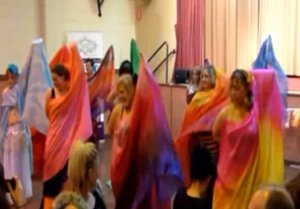 The Bridgwater ladies performing with veils